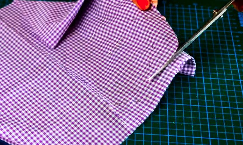 corte de tela para apoya vasos en forma de manzana
