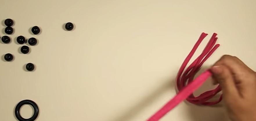 corte de tela para colgante de maceta