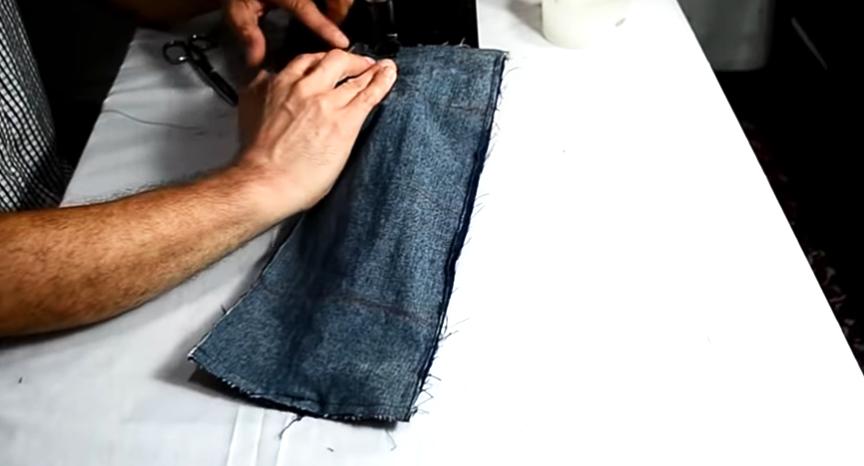costura de unión de piezas para pesas de tela para tobillos