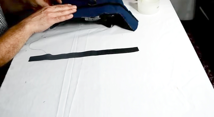 costura de velcros con telas para pesas de tobillos
