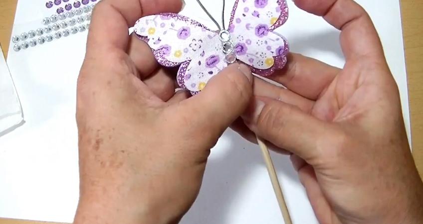 decoración de mariposa de tela para móvill