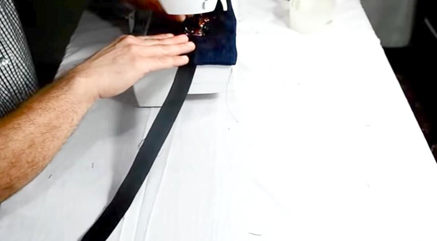 marcado de costuras sobre tela para pesas de tobillos