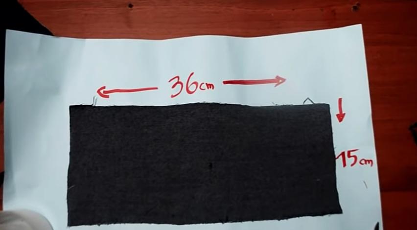 marcado y corte de tela para pesas de tobillos