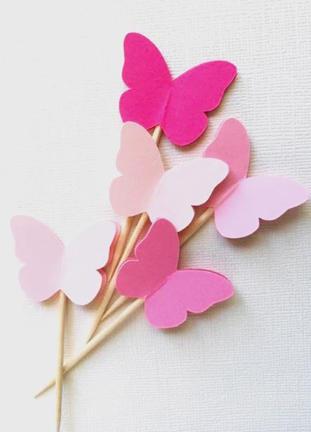 Cómo hacer móviles de mariposas con tela.