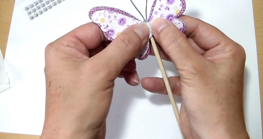 pegado de segunda mariposa de tela para móvil