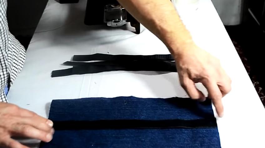 unión de velcros con telas para pesas de tobillos