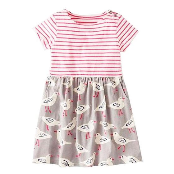 Cómo hacer un vestido de niña con una remera y tela