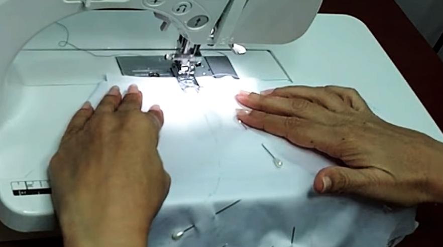 costura de telas para guantes de protección contra coronavirus