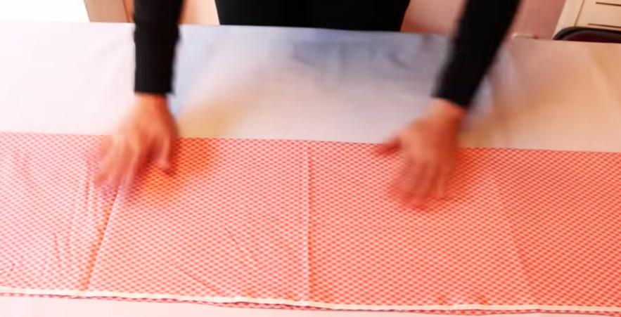 primer dobles de tela de algodón con método Marie Kondo