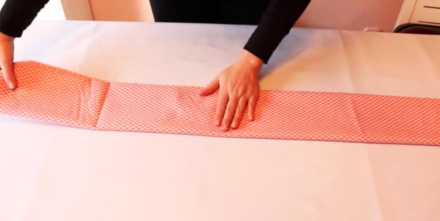 segundo dobles de tela de algodón con método Marie Kondo