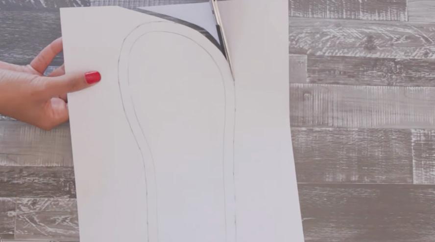recorte de suelas para pantuflas de tela