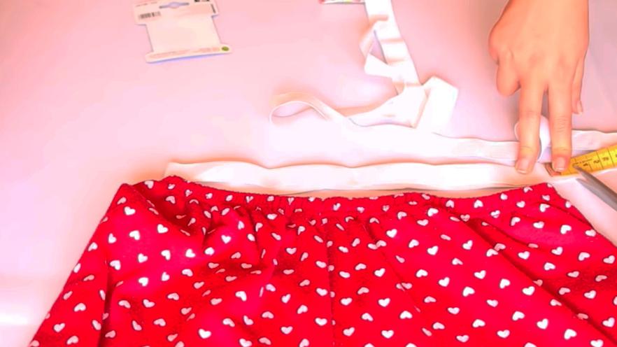 corte de elástico para pantalón pijama de tela