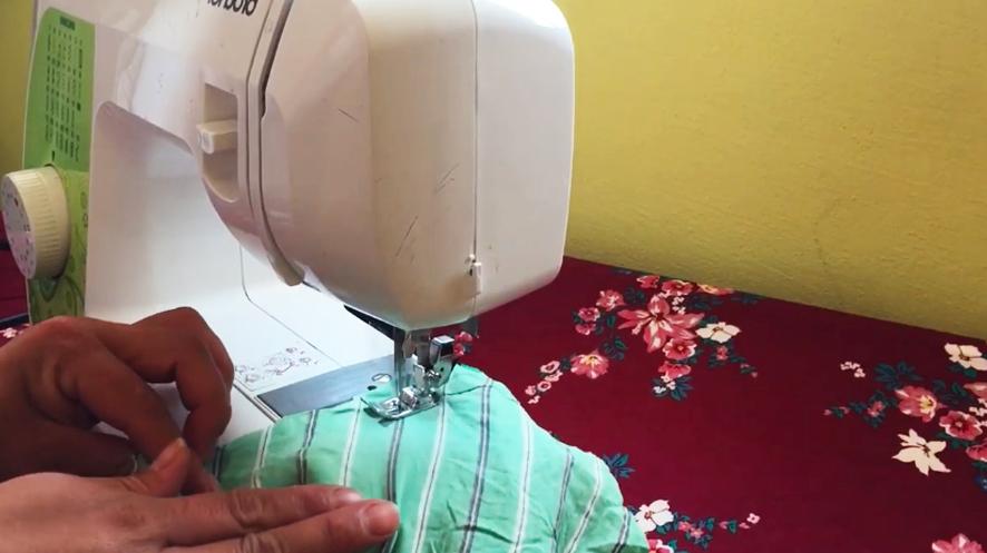 costura de tela de hombros para bata