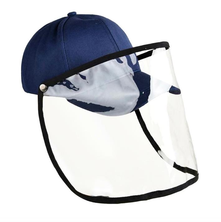 gorra de tela con protector facial contra coronavirus extratip
