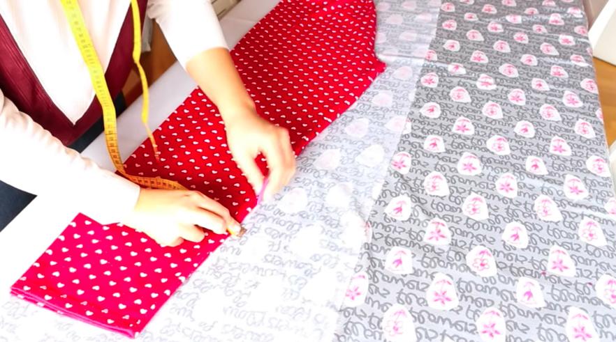 marcado de pantalón en tela para pijama