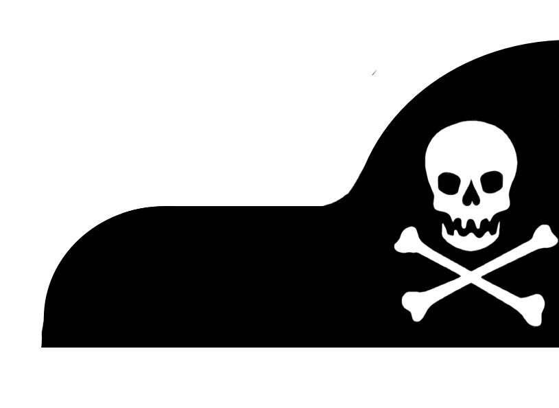 patrón de sombrero de pirata de tela