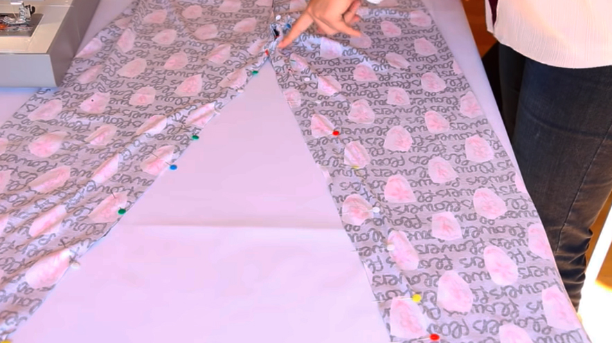 unioón de tela interna para pantalón de pijama