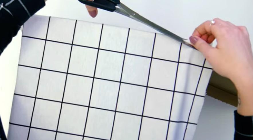 corte de tela para forrado de caja