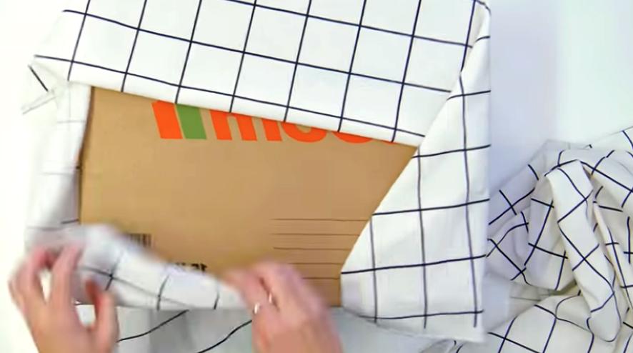 medida de tela para forrado de caja