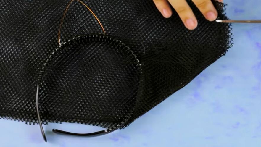 medida y corte de tela para orejas de vincha