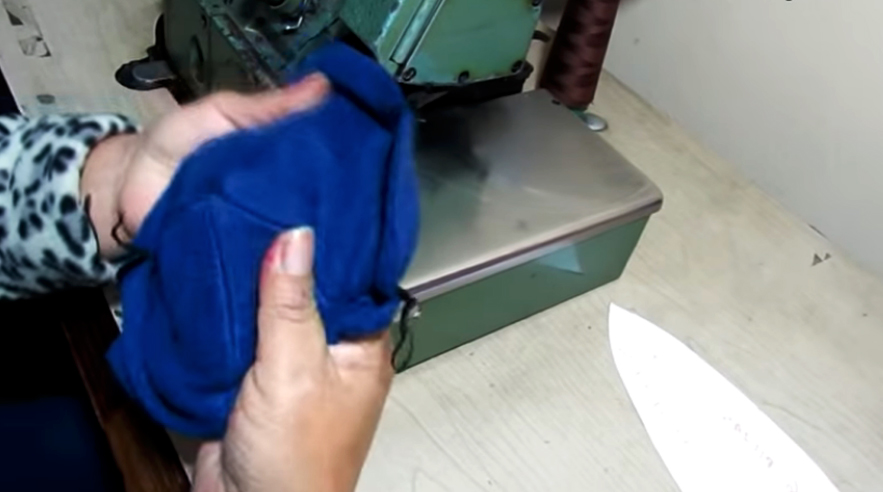 vuelta de unión de piezas de tela para gorro de invierno