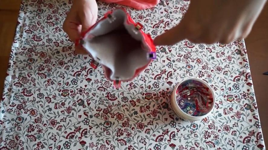 unión de piezas de tela para funda de plancha de pelo